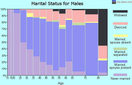 Kitsap County marital status for males