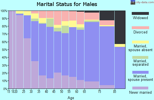 Aiken County marital status for males