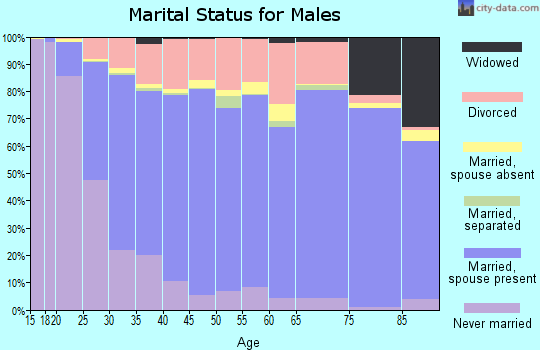 Union County marital status for males