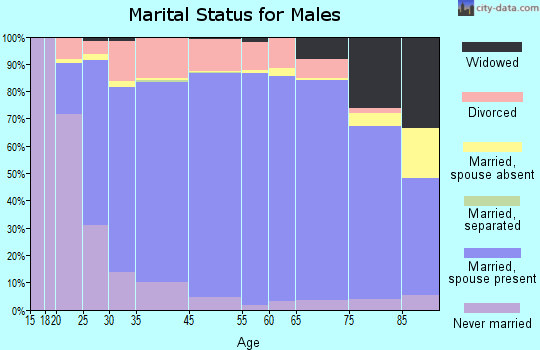 Kanawha County marital status for males