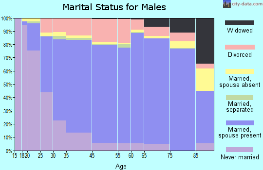 Herkimer County marital status for males