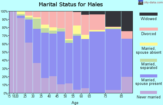 Edgar County marital status for males