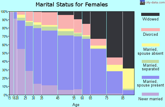 Holmes County marital status for females