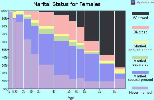 Jerome County marital status for females
