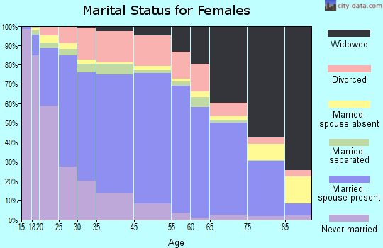 Burnet County marital status for females
