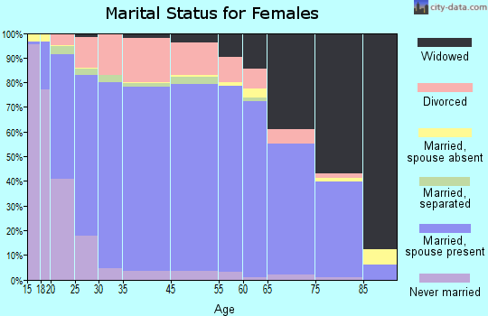 Bristol County marital status for females