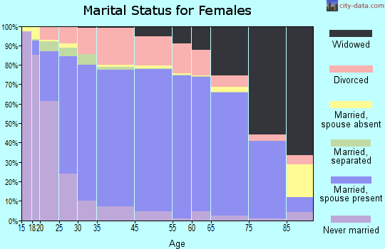 Mineral County marital status for females