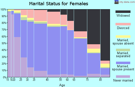 New York County marital status for females