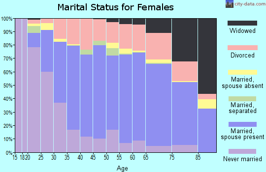 Union County marital status for females