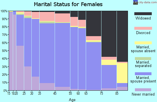 Huntingdon County marital status for females