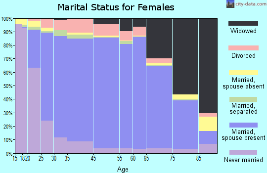 Clinch County marital status for females