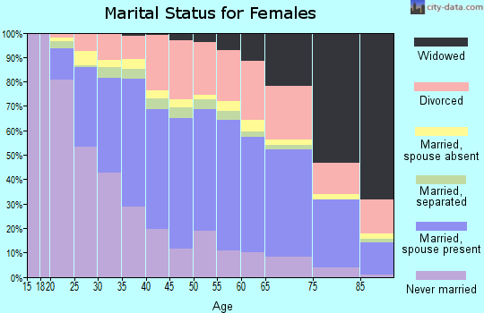 Duval County marital status for females