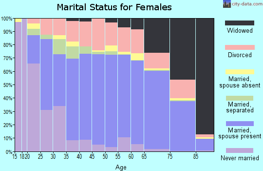 Iron County marital status for females