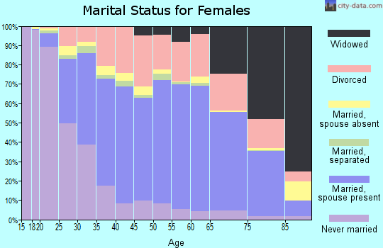 Kingsbury County marital status for females