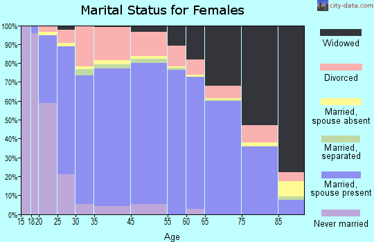 Hall County marital status for females