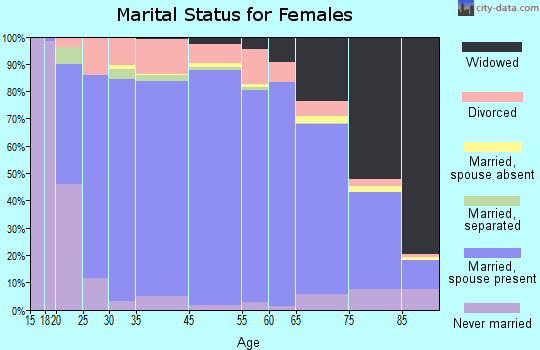 Miami-Dade County marital status for females