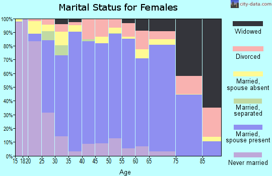 Elbert County marital status for females