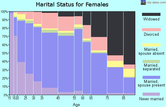 Henry County marital status for females