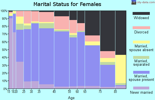 Beaver County marital status for females