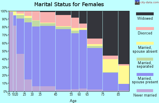 Manistee County marital status for females