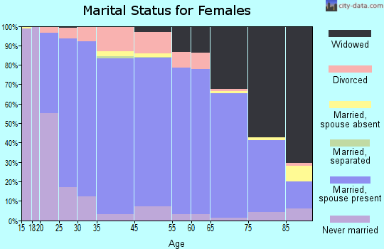 Medina County marital status for females