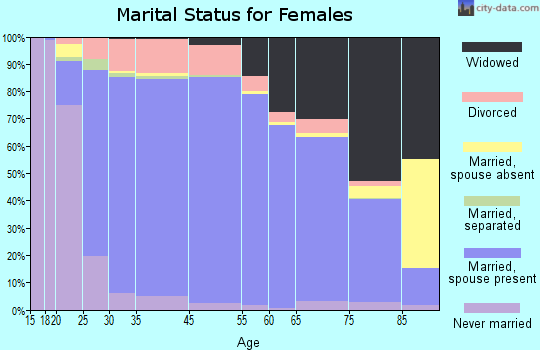 Oktibbeha County marital status for females