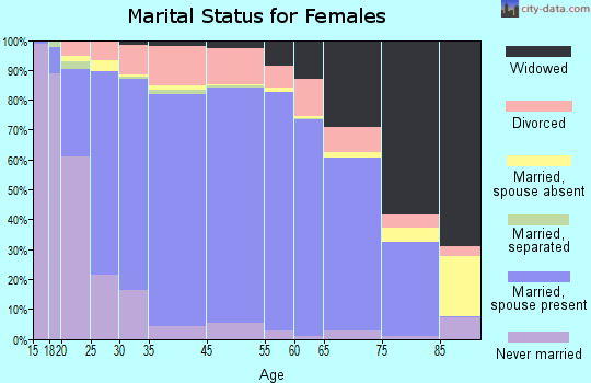 Wirt County marital status for females