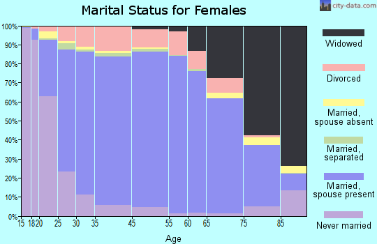 Norman County marital status for females