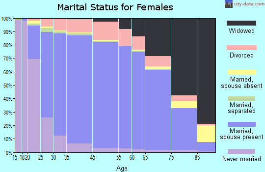 Logan County marital status for females
