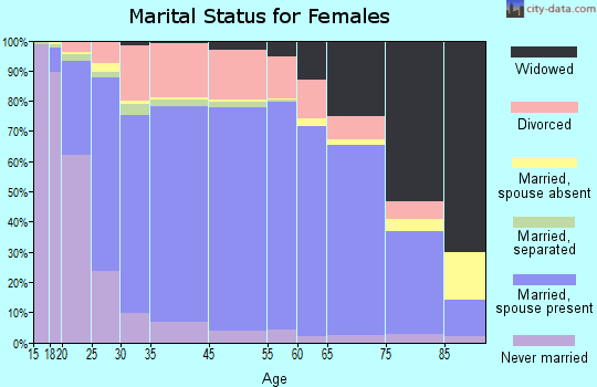 Midland County marital status for females