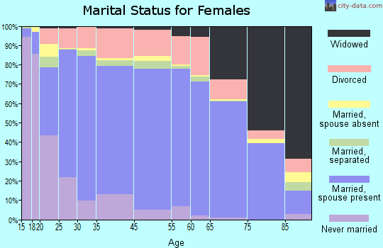 Meade County marital status for females