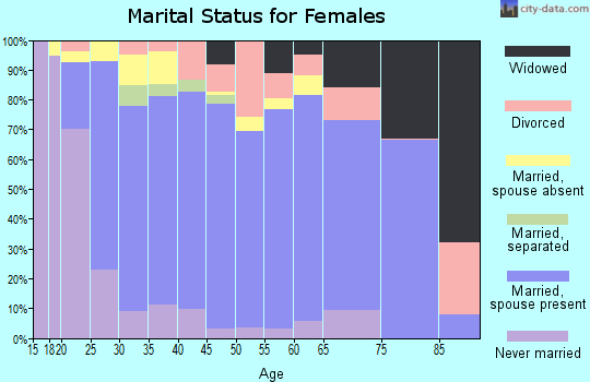 Macon County marital status for females