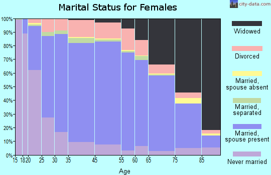 Gilmer County marital status for females
