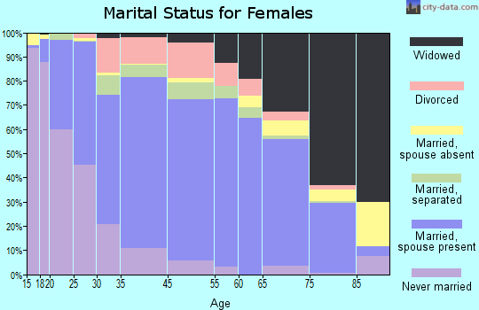 Dimmit County marital status for females