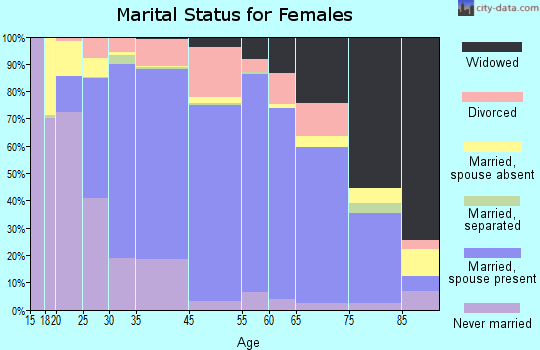 New Hanover County marital status for females