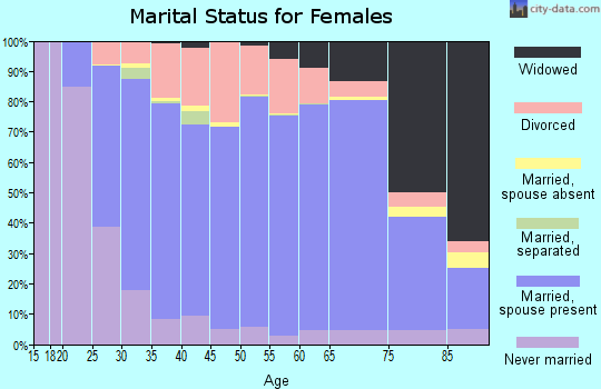 Amherst County marital status for females