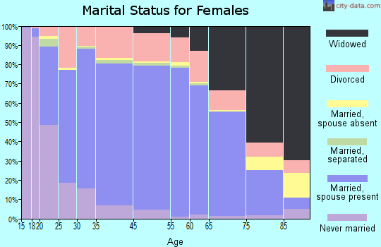 Texas County marital status for females