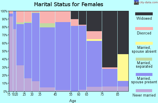O'Brien County marital status for females