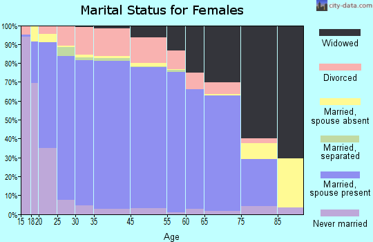 Peoria County marital status for females