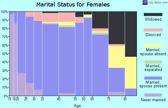 Erath County marital status for females