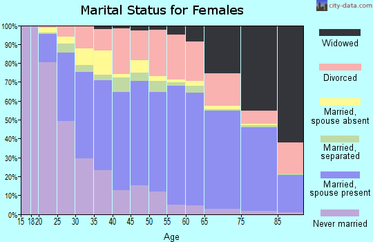 Perry County marital status for females