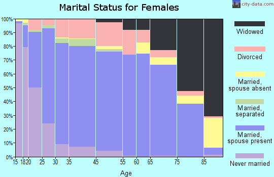 Saginaw County marital status for females