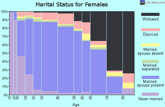 Steele County marital status for females