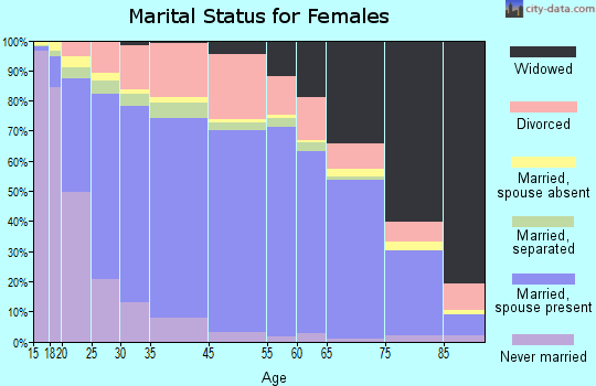 Pope County marital status for females