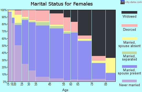 Irwin County marital status for females