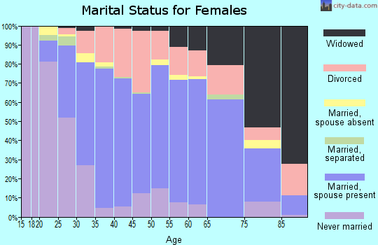 Lanier County marital status for females