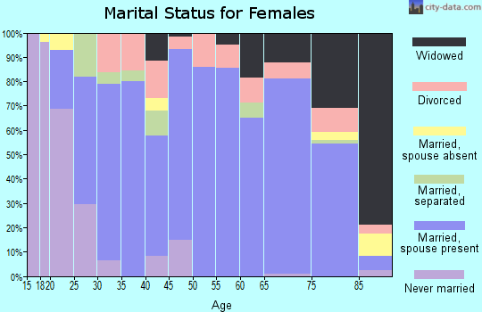 Laurens County marital status for females