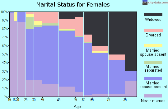 Meriwether County marital status for females