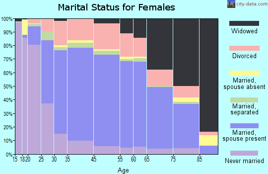 Henderson County marital status for females