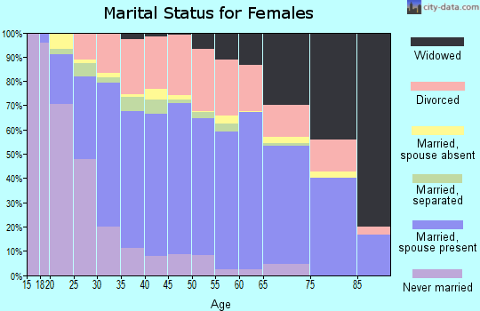 Washington County marital status for females